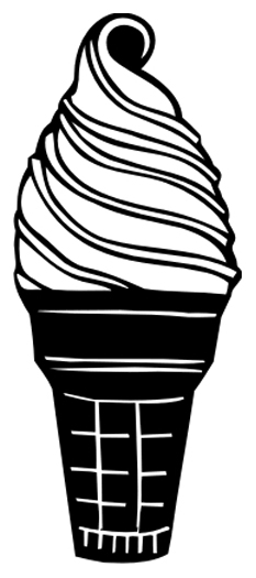 Ice Cream Cone Sticker