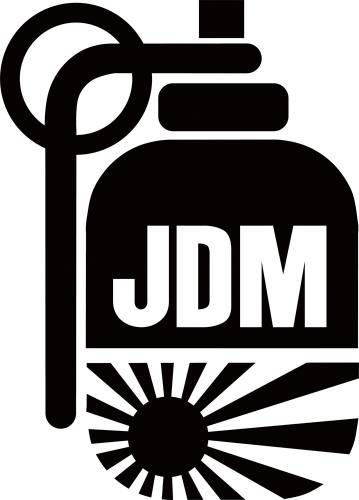 jdm japan grenade sticker jdm japan grenade 3 00 rh sassystickers com jdm logo stickers jdm logistics kosciusko ms