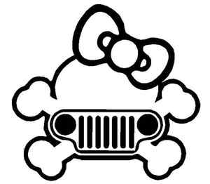Jeep Skull Girl Sticker