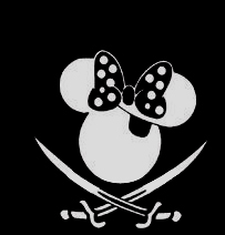 Minnie Mouse Pirate Sticker
