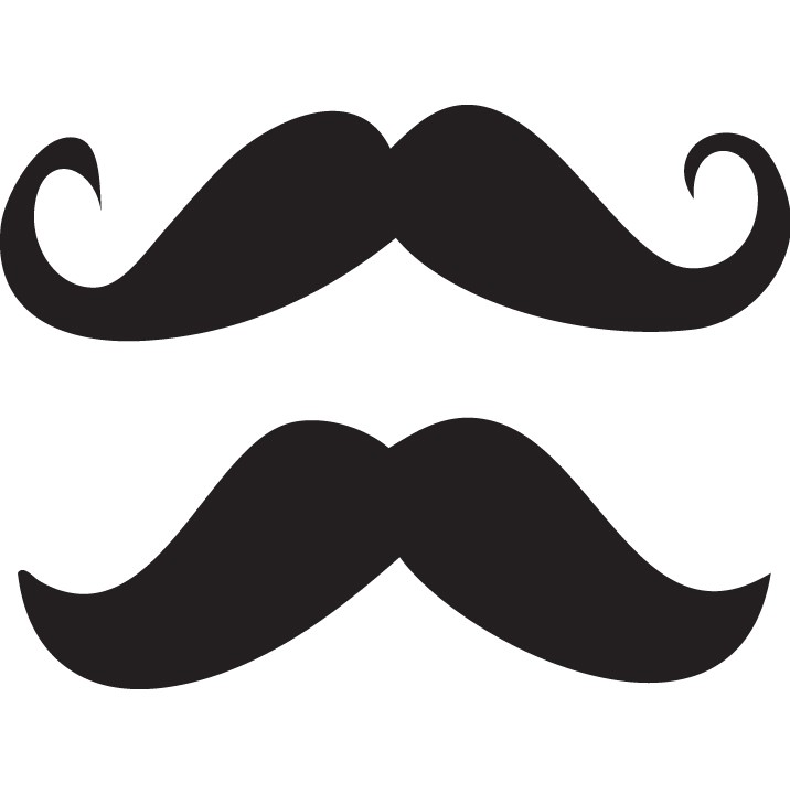 Mustache Sticker Set