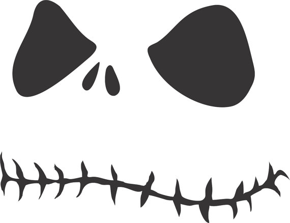 Nightmare Before Christmas Face Sticker