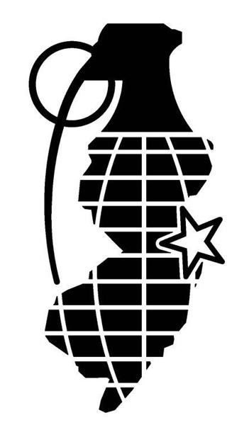 NJ Grenade Sticker Njgrenade SassyStickerscom - Custom vinyl stickers nj