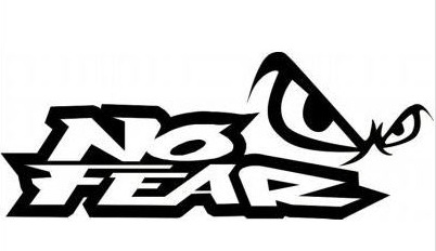 No Fear Sticker