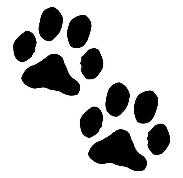 Dog Paw Print Sticker Decal