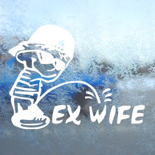 Pee On Ex-Wife Sticker Decal