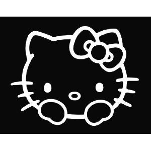 Peeping Hello Kitty Sticker