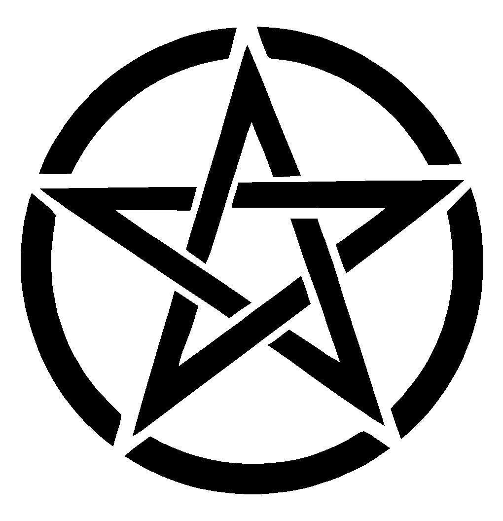 Pentagram Star Sticker Decal