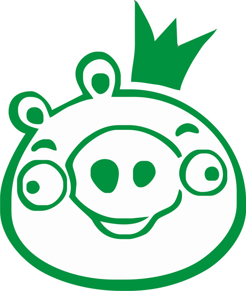Angry Bird Pig King Sticker