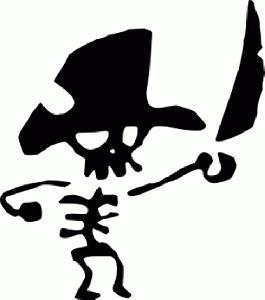 Pirate Skull Sticker
