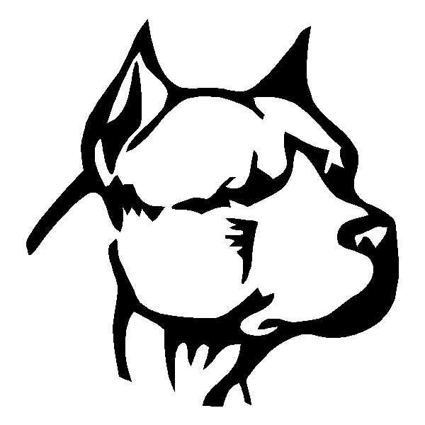 Pitbull Head Sticker Decal