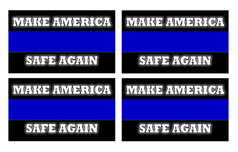 Police Blue Line Make America Safe Again Sticker Decal