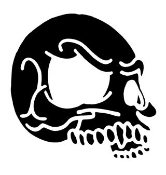 Side Of A Skull Sticker