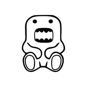 Sitting Domo Sticker