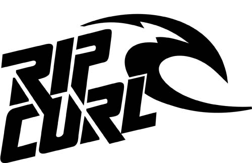 Skate rip curl sticker