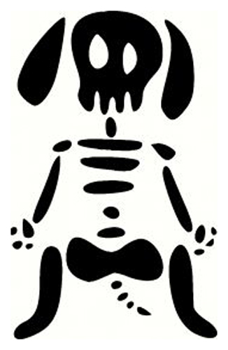 Skeleton Dog Sticker