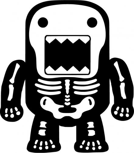 Skeleton Domo Sticker