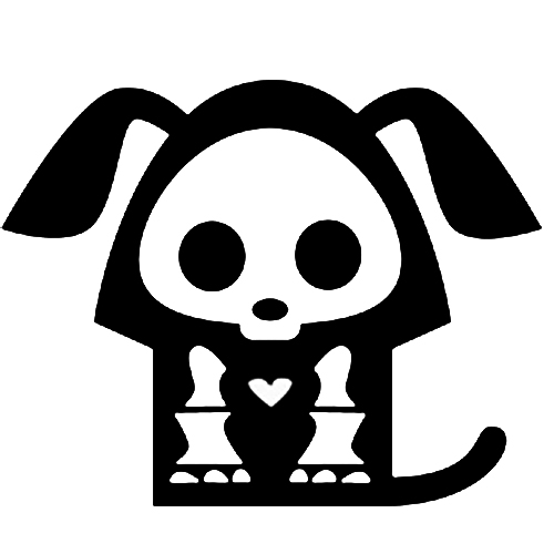 Skeleton Pup Sticker