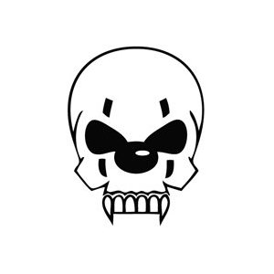Skull Clown Sticker