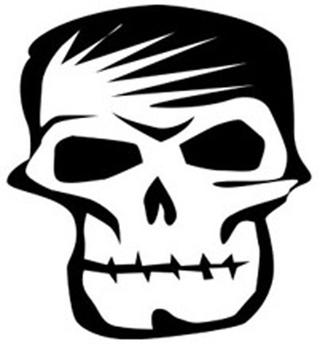 Skull Face Sticker