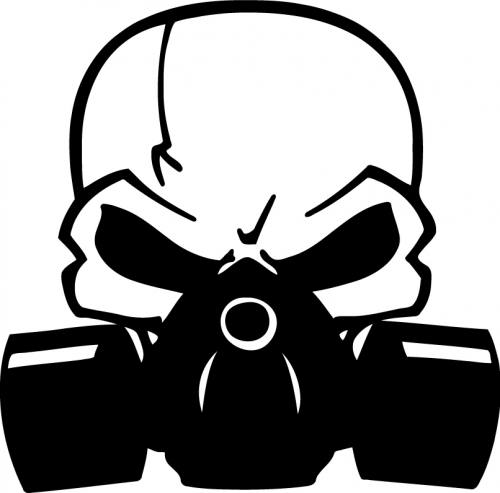 Skull Gasmask Sticker