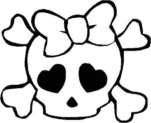 Skull girl Decal Sticker
