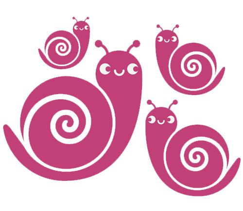 Snail Family Sticker