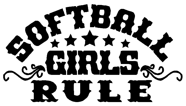 Softball Girls Rule Sticker Decal