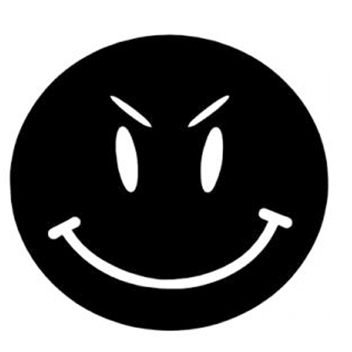 Solid Grin Sticker - Click Image to Close