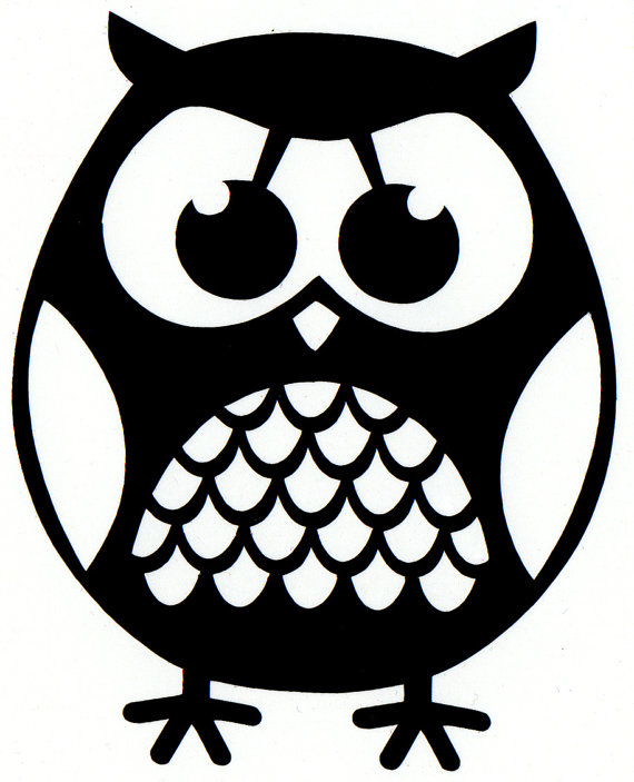 Standing Owl Sticker