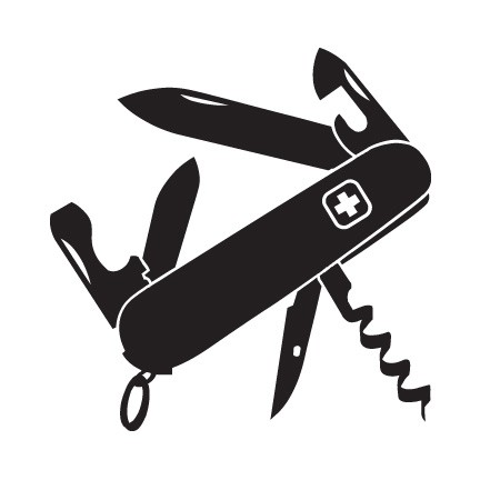 Swiss Army Knife Sticker