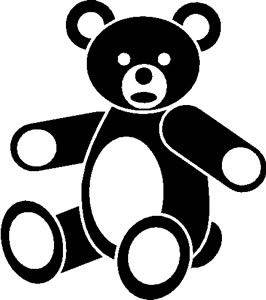 Toy Teddy Bear Sticker