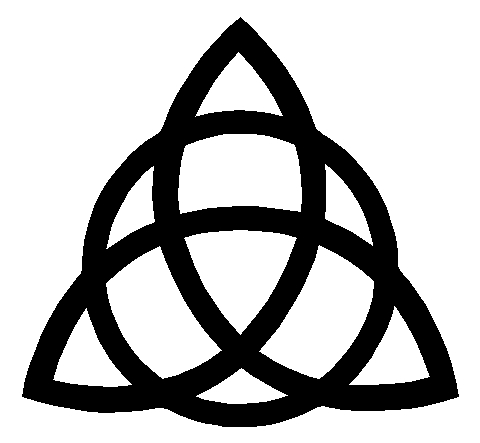 Triquetra Trinity Knot Window Sticker Decal
