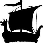 Viking Ship Sticker