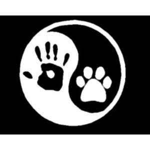 Yin Yang Pawprint And Handprint Sticker