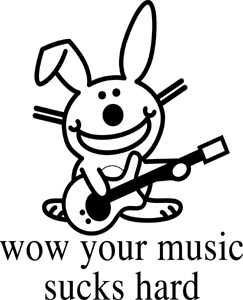 Your Music Sucks Bunny Sticker