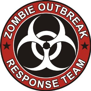 Zombie Outbreak Red Sticker - Click Image to Close